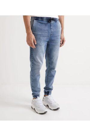 Blue Steel Calça Jogger em Jeans       GG
