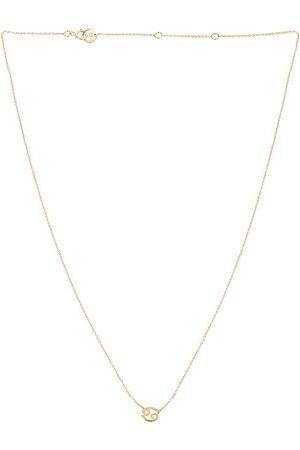 BYCHARI Zodiac Necklace in Metallic Gold. - size Aquarius (also in Aries, Cancer, Gemini, Leo, Libra, Pisces, Virgo)