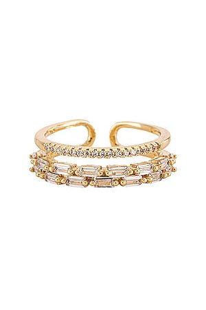 BRACHA Clara Baguette Ring in Metallic .