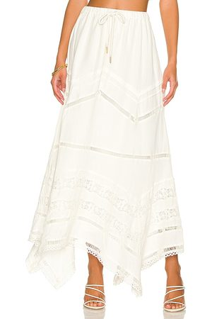 Tularosa Tinsley Maxi Skirt in Ivory. - size L (also in M, S, XL, XS, XXS)