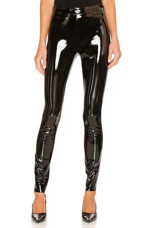 ALICE+OLIVIA Maddox Back Zip Vegan Leather Legging in . - size 0 (also in 2, 4, 6, 8)