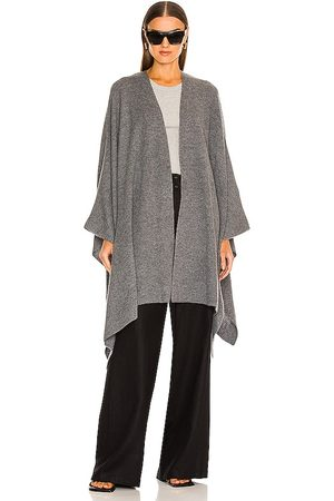 Weekend Stories Eva Poncho in Grey. - size M/L (also in XS/S)