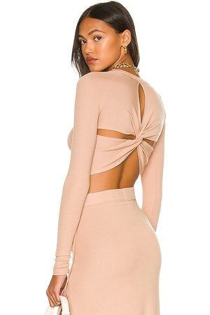 Alix NYC Coles Crop Top in Nude. - size L (also in M, S, XS)