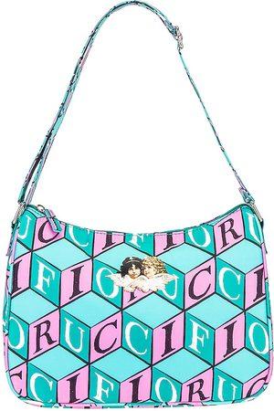 Fiorucci Cubic Northern Lights Shoulder Bag in Blue.