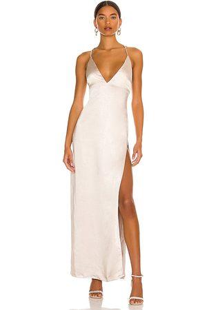 MORE TO COME Regina Maxi Dress in Neutral. - size L (also in M, XL)