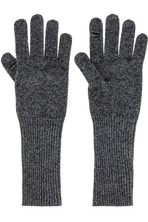 White + Warren Cashmere Long Texting Glove in Charcoal.