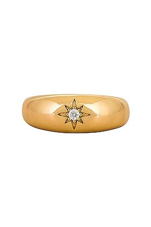 Joy Dravecky Jewelry Mulher Anéis - Eden Ring in Metallic Gold. - size 6 (also in 7, 8)