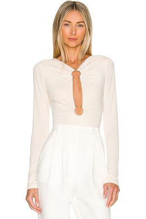 Camila Coelho Mulher Body - Reyes Bodysuit in Neutral. - size L (also in M, S, XL, XS, XXS)