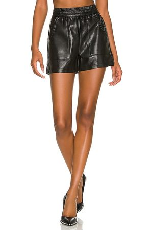 THE RANGE Plush Vegan Leather Shorts in . - size L (also in M, S, XS)
